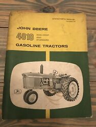 John Deere Vintage 4010 Tractor Operator's Manual Ships Quick And Free