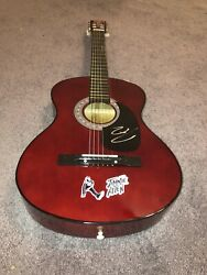 Country Music Star Jimmie Allen Signed Logo Acoustic Guitar Proof Coa Best Shot