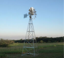 Easypro Becker Windmills Sturdy 4-leg For Natural Pond Aeration 12' - 20' Tall