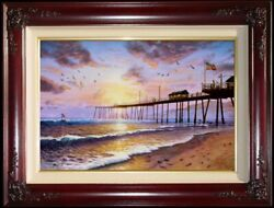 Thomas Kinkade Footprints In The Sand 18x27 G/p Limited Edition Canvas Paintings