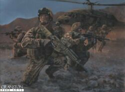 Us. Army Special Forces Afghanistan War Military Art Print Black Hawk Helicopter