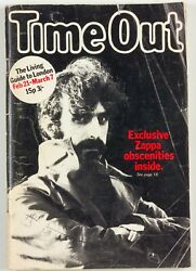 Frank Zappa Banned Royal Albert Hall Time Out London Music Magazine 1970's 70s