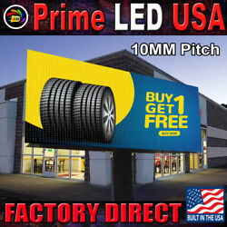 Led Sign Full Color P10mm Outdoor/indoor, 25.25 H X 75.5 W, Wifi Cellphone App