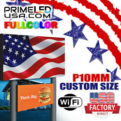 Led Sign Full Color P10mm Outdoor/indoor 37.75 H X 63 L Wifi + Cellphone App