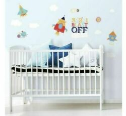 Roommates Shoot for the Moon Peel and Stick Wall Decals Baby Room NEW IN BOX