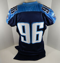 2004 Tennessee Titans Jared Clauss 96 Game Issued Navy Jersey