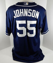 2015 San Diego Padres Josh Johnson 55 Game Issued Navy Jersey