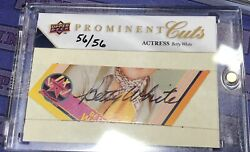 Betty White 56/56 Auto Upper Deck Prominent Cuts Signed Psa/dna Auto Golden Girl