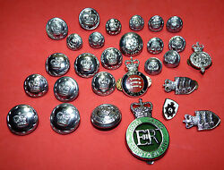 Vtg London British Uk Essex Police Officer Buttons And Pins Large Lot Obsolete A9