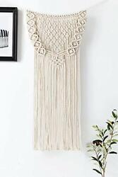 Macrame Wall Hanging Woven Tapestry Boho Home Decor Apartment Bedroom