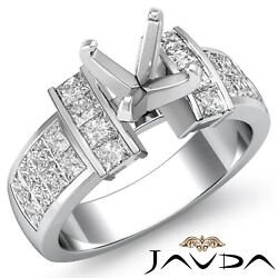 1.03ct Princess Diamond Invisible Setting Anniversary Engagement Womenand039s Ring
