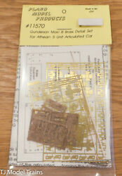 Plano 11570 Gunderson Max Iii Brass Detail Set For Athearn 5 Unit Articulated