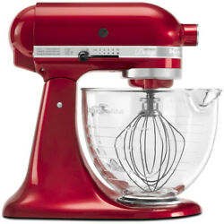 KitchenAid KSM155GBCA 5-Qt. Artisan Design Series with Glass Bowl - Candy Apple