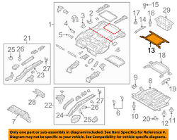 FORD OEM 12-18 Focus Floor-REAR BODY-Reinforcement CV6Z5810798A