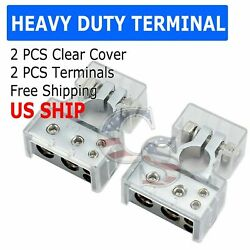 1pair Battery Terminal Connector Top Post Positive Negative Heavy Duty Universal