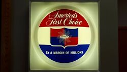 1965 Chevrolet Americaand039s First Choice Car Dealer Wall Lighted Sign