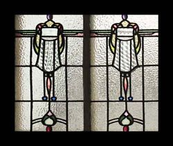 Fantastic English Arts And Crafts Antique Stained Glass Window