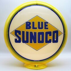 Blue Sunoco Gas Pump Globe - Ships Fully Assembled - Ready For Your Pump