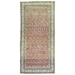 A Colorful Vintage Persian Malayer Rug From The Early