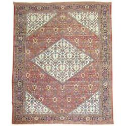 Room Size Persian Antique Mahal Room Size Rug Featuring