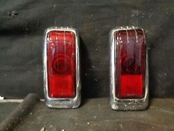 1946-1948 Desoto S-11 Tail Lights Pair Used Take Offs 13755 13756 W/lenses
