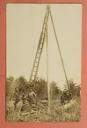 Azo Rppc Oil Water Well Drilling Rig Real Photo Postcard