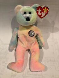 Ty Birthday Bear In Mint Condition With Errors On Ear Tag