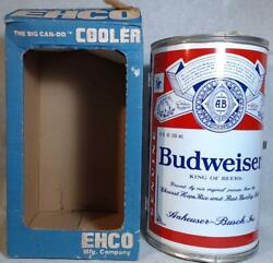 Vtg Budweiser Metal Cooler In Box Ehco Big Can Do Usa Made Beer Shape 1980s 14