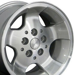Oew Fits 15 X8 Silver Machand039d Wrangler Wheels Of Rims Jeep Cherokee Comanche
