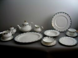 Royal Doulton Marlborough Pattern Service For 8 With Tea Pot And Extras Brand New