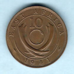 East Africa. Error Coin. 1941-i 10 Cents.. No Central Hole.. Unc