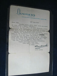Signed Letter From Stan Laurel About His Honorary Oscar Win Dated May 2 1961