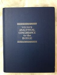 Young's Analytical Concordance To The Bible Revised Edition Hardcover 1973