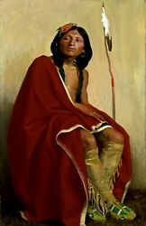 Elk-foot Of The Taos Tribe By Couse Indians Repro Made In U.s.a Giclee Prints