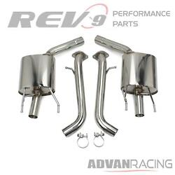 Fits 13-18 Gs350 Flowmaxx Axle-back Exhaust Kit Stainless Steel Bolt-on