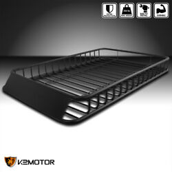 62x39 Universal Roof Rack Luggage Hold Cargo Car Top Carrier Basket Suv Truck