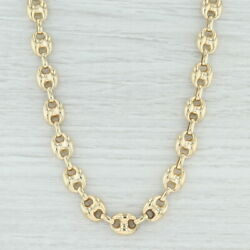 Long Layer Anchor Mariner Gucci Chain Necklace - 14k Yellow Gold 31