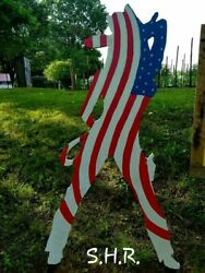 Outdoor Decorative Flags Made Out Of Long Lasting Quality 3 Quarter Inch Wood..