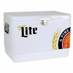 Koolatron Stainless Steel Miller Light 54l Ice Chest Holds Up To 85 Cans Mlic-54