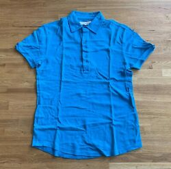 Orlebar Brown Menand039s Harris Polo Tee T-shirts Top In Marine Size Medium - New