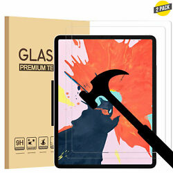 2 Pack Tempered Screen Protector For Apple Ipad Pro 9.7/10.2/10.5/11/12.9 Inch