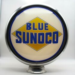 15 Blue Sunoco Gas Pump Globe Lens 1 Not The Full Globe - 1 Lens/ Face Only