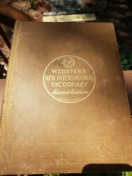 WEBSTER'S NEW INTERNATIONAL DICTIONARY Second Edition UNABRIDGED 1943 One Owner