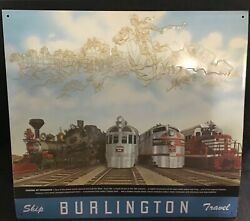 Train Burlington Metal Sign Collectible By Aaa Signs In Ohio