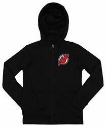 Outerstuff Nhl Youth/kids New Jersey Devils Performance Full Zip Hoodie