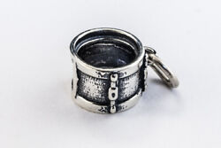 13mm Sterling Silver Snare Drum Charm Bse041