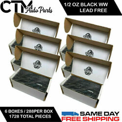 6 Box 1728 Pieces 1/2 Oz Black Wheel Weights Stick On Adhesive Tape