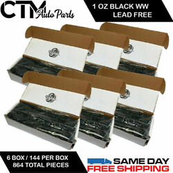 6 Box 864 Pieces 1 Oz Black Wheel Weights Stick On Adhesive Tape 54lbs