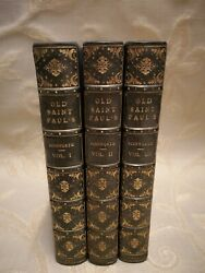 Lot Of 3 Antique Books Old Saint Paul's A Tale Of The Plague And The Fire - 1841