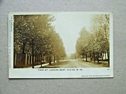 Elkins West Virginia Wv Rppc Photo First St Looking West Om White Photographer
